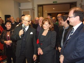 Dr. Deo Debattista delivering his speech during xmas reception at Valletta