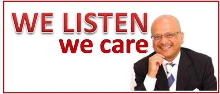 we listen - we care
