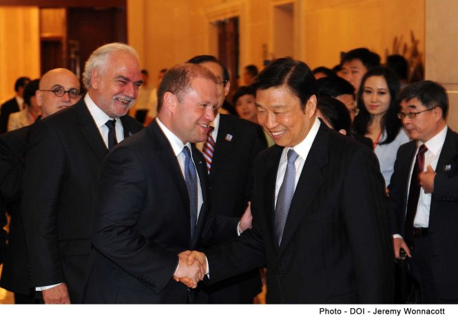 The Prime Minister meets the Chinese Vice President Li Yuanchao